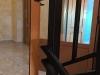 Detalle remates puerta escalera aluminio