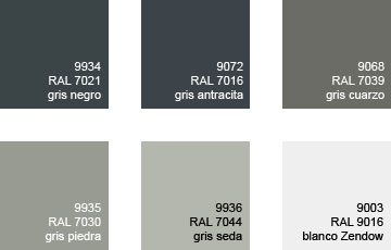 Colores pvc mavero s l carpinter a y ventanas de pvc for Ventanas aluminio gris antracita