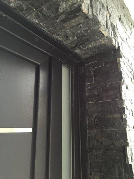 Puertas de calle pvc mavero s l carpinter a y for Ventanas aluminio gris antracita