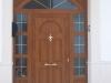 Puerta de calle PVC imitación madera panel ALTAR