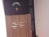 Puerta de calle de pvc roble oscuro panel IP4