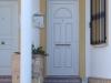 Puerta de calle PVC blanca panel  ALTAR con curva superior