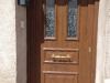 Puerta de calle PVC imitación madera panel Aldebarán