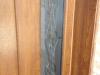 Puerta de calle PVC detalle cristal Vitroresina fijo lateral