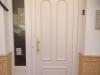Puerta de calle PVC blanco panel Argos con fijo lateral