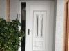 Puerta de calle PVC blanca panel ara