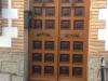 Puerta de hierro anterior a instalación sin obra de puerta IP4