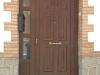 Puerta de calle PVC imitación madera panel IP4 ciega fijo lateral