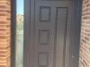 Puerta de calle PVC foliado gris antracita Lira