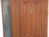 Puerta de calle PVC imitación madera IP5 Roble dorado fijo lateral