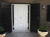 Puerta de PVC blanca panel Vilano dos fijos laterales