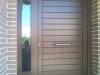 Puerta de calle PVC imitación madera panel IP7