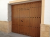 Puerta Abatible de PVC Roble dorado exterior