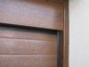Puerta seccional instalada detalle remate