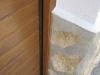 Seccional instalada sobre puerta de muelles detalle remate