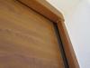 Seccional instalada sobre puerta de muelles detalle remate 2