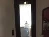 Puerta balconera pvc nogal