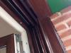 Ventana de PVC bicolor Nogal Exterior y blanco interior