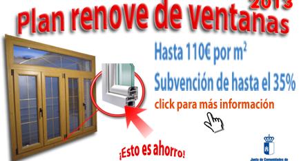Plan renove de ventanas de Castilla La Mancha 2016/2017