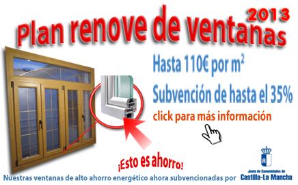 Plan renove de ventanas 2013 en Castilla – la Mancha